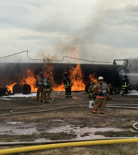 Montana Firefighters Crude by Rail Training Photo