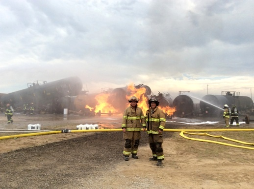 Montana Firefighters Scott Beagle and Steve Lauer Crude by Rail Training Photo