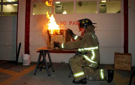 Fire Services Training School Backdraft Training Photo