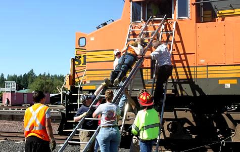 Burlington Northern Rescue Training Photo