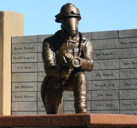 Libby Volunteer Fire Department 100th Anniversary Bronze Sculpture
